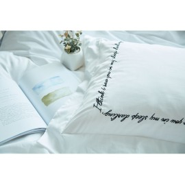 Korean quotes pillow case (single)