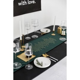 Velvet quotes tablecloth