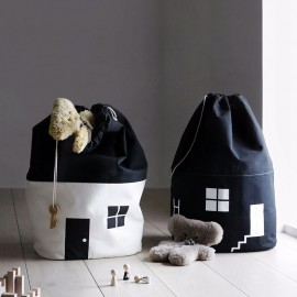 Canvas straw house storage bag