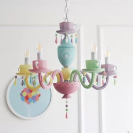 Alice cup tea LED chandelier