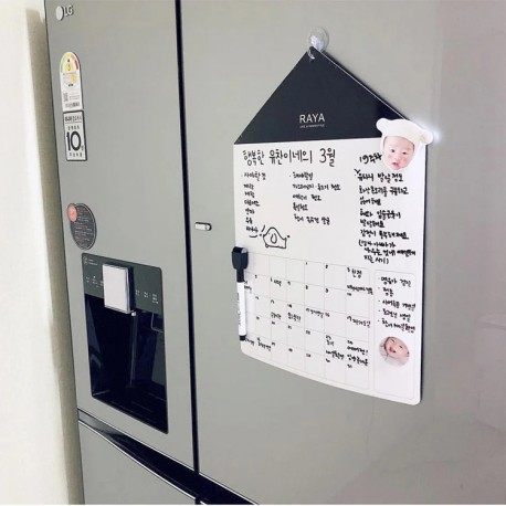 refrigerator message board