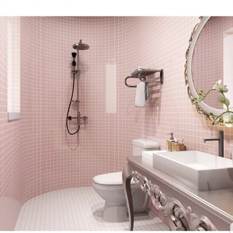 Pink mozaic wall tiles