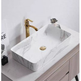 Marble rectangular basin type A