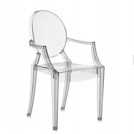 Ghost chair with armrest